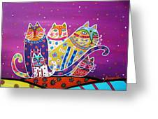 5 Cats Greeting Card