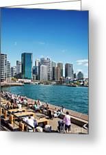 central sydney CBD  area skyline and circular quay in australia Greeting Card