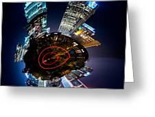 Charlotte Skyline Mini Planet Greeting Card