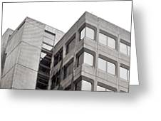 Concrete Building Greeting Card
