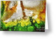 Cow With Bell Greeting Card