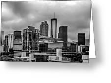 Downtown Atlanta, Georgia Usa Skyline Greeting Card