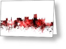 Durham England Skyline Cityscape Greeting Card