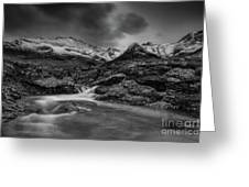 Fairy Pools Of River Brittle Greeting Card