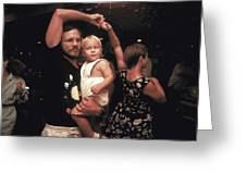 Family Dancing On The Bayou Greeting Card