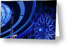 Ferris Wheel In Motion Greeting Card