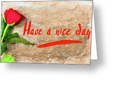 Flower Frame Border Greeting Card