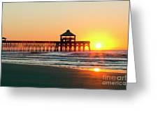 Folly Beach Pier Sunrise Greeting Card