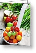 Fresh Tomatoes Greeting Card