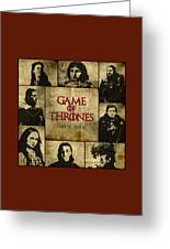 Game Of Thrones. House Stark. Greeting Card