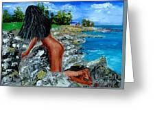 Girl Nude Greeting Card