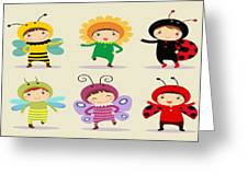 Happy Children  Greeting Card