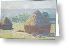 Haystacks, End Of Summer Greeting Card