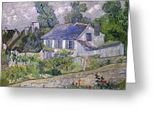 Houses At Auvers Greeting Card