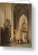 Interior View Of Namur Cathedral Greeting Card