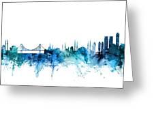 Istanbul Turkey Skyline Greeting Card