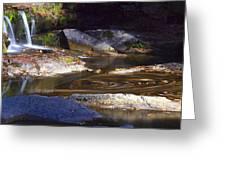 Waterfall Swirl Greeting Card