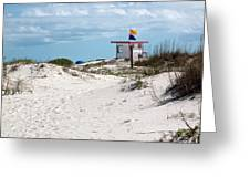 Jetty Park On Cape Canaveral In Florida Greeting Card