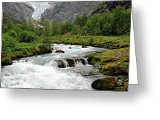 Jostedalsbreen National Park Greeting Card