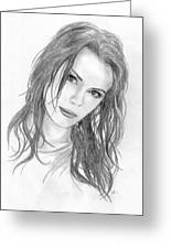 Miss Beckinsale  Greeting Card