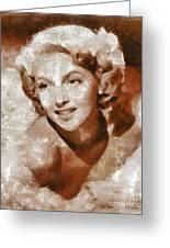 Lana Turner Vintage Hollywood Actress Greeting Card