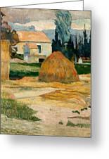 Landscape Near Arles Greeting Card