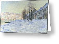 Lavacourt Under Snow Greeting Card