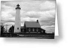 Lighthouse - Tawas Point Michigan Greeting Card