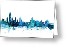 Lincoln Nebraska Skyline Greeting Card