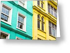 London Houses Greeting Card