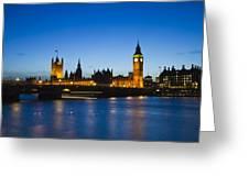 London  Skyline Big Ben Greeting Card by David French