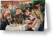 Luncheon Of The Boating Party Greeting Card