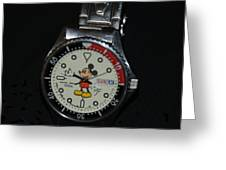 Mickey Mouse Watch Greeting Card