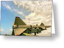Military Weapons, Ballistic, Anti-aircraft, Medium-range Missile 6 Greeting Card