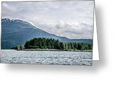 Mountain Range Scenes In June Around Juneau Alaska Greeting Card