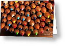Multicolored Pencils  Greeting Card