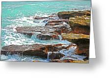 5- Ocean Reef Shoreline Greeting Card
