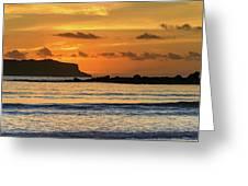 Orange Sunrise Seascape Greeting Card