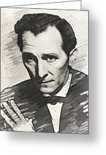 Peter Cushing, Vintage Actor Greeting Card