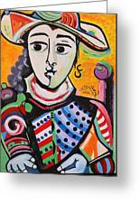 Picasso By Nora Greeting Card