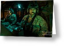 Pilots Sitting In The Cockpit Greeting Card