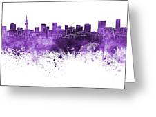 Pretoria Skyline In Watercolor Background Greeting Card