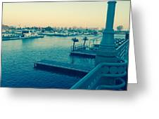 Racine Harbor Wisconsin  Greeting Card
