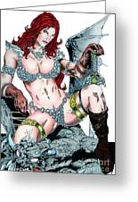 Red Sonja Greeting Card