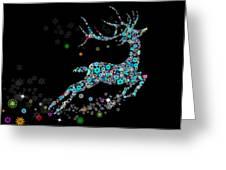 Reindeer Design By Snowflakes Greeting Card by Setsiri Silapasuwanchai