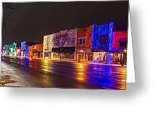 Rochester Christmas Light Display Greeting Card