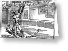 Roman Gladiators Greeting Card