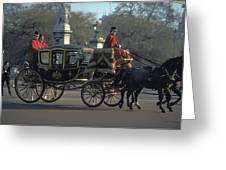 Royal Carriage In London Greeting Card