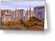 Salt Lake City Lds Temple Greeting Card