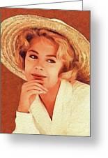 Sandra Dee, Vintage Actress Greeting Card